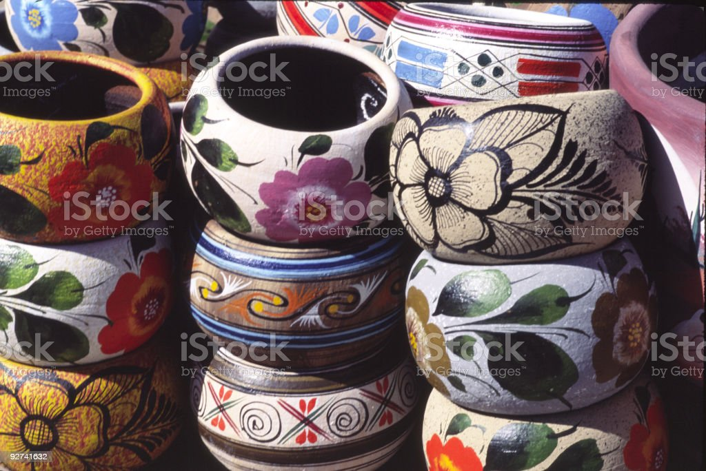 Colorful Mexican Bowls royalty-free stock photo