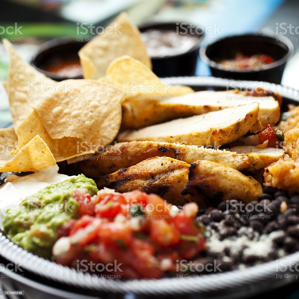 Colorful Mexican Food royalty-free stock photo