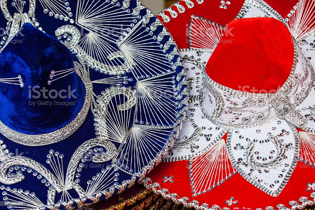 Colorful Mexican sombrero royalty-free stock photo