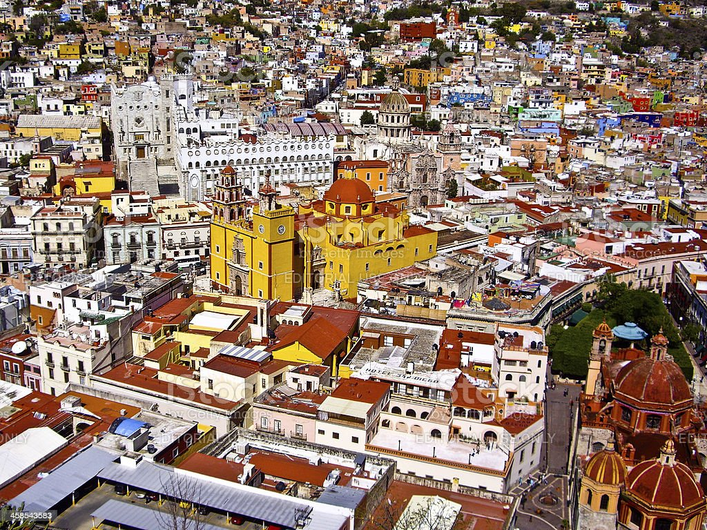Colorful Mexican Town royalty-free stock photo