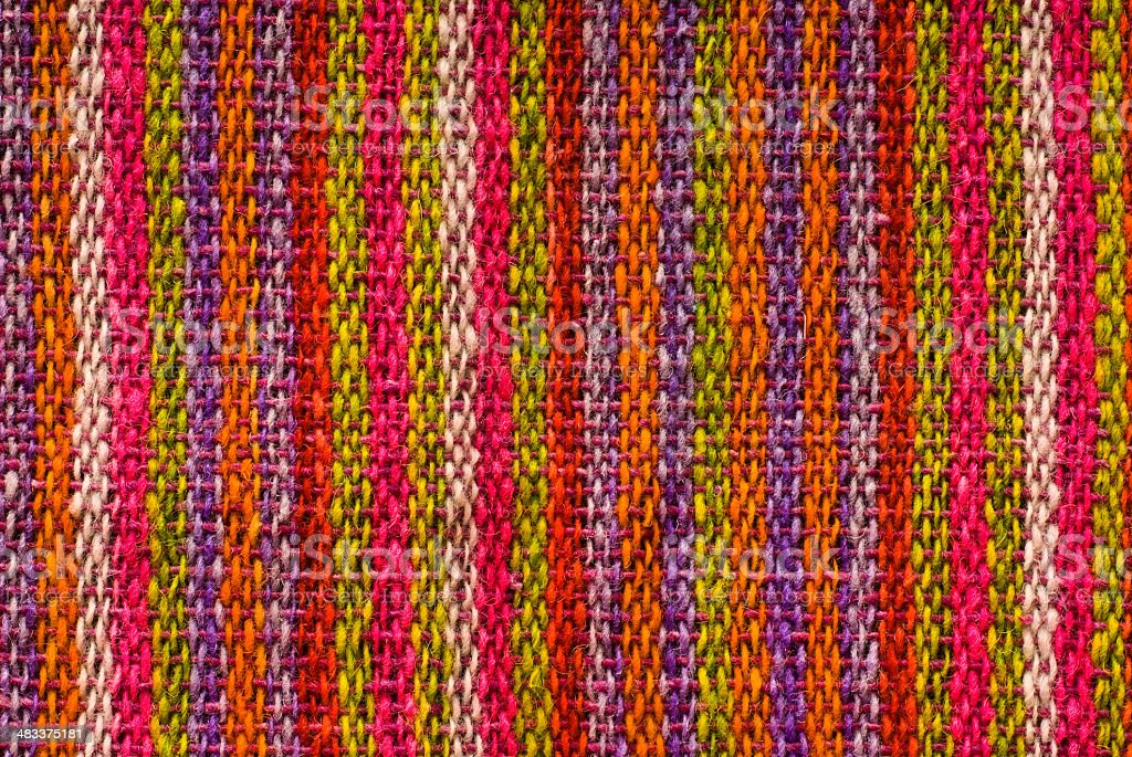Colorful Mexican Woven Shawl Detail royalty-free stock photo