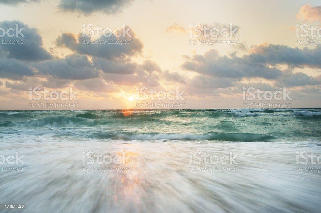 Colorful Miami Beach Sunrise royalty-free stock photo