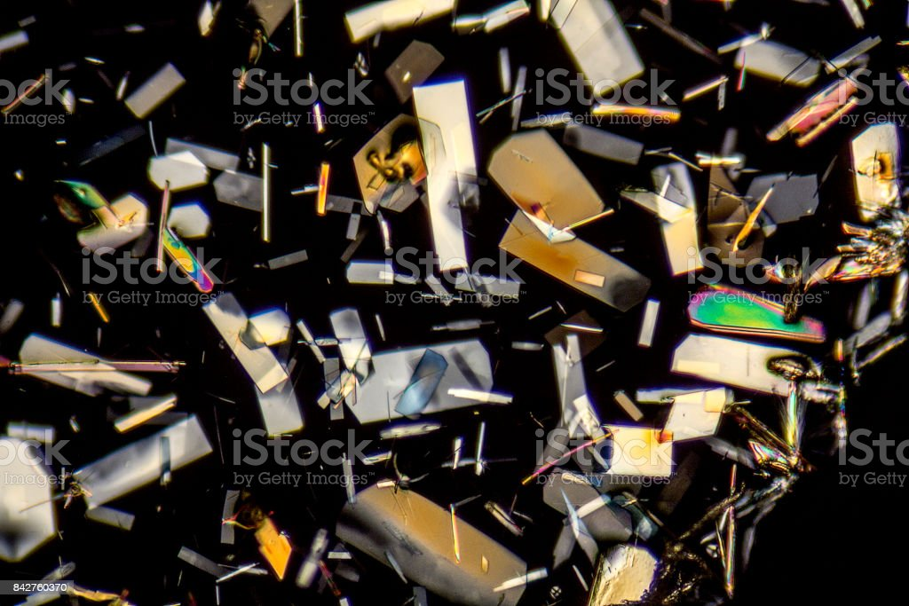 colorful microcrystals stock photo