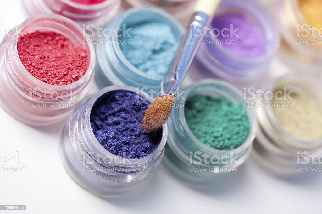 colorful mineral eyeshadows royalty-free stock photo