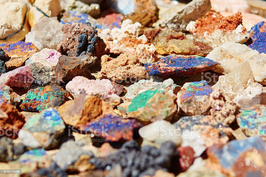 Colorful minerals stock photo