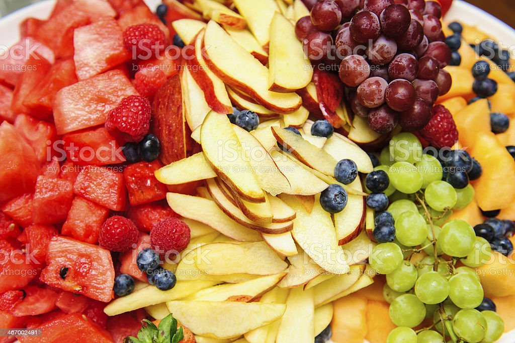 Colorful mixed fruit stock photo