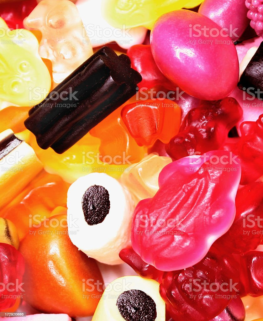colorful mixture of candy sweets, baclground royalty-free stock photo