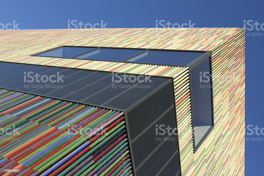 Colorful modern building stock photo