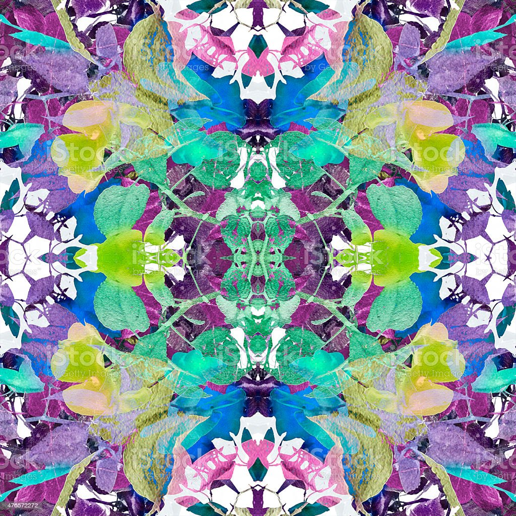 Colorful Modern Floral Pattern stock photo