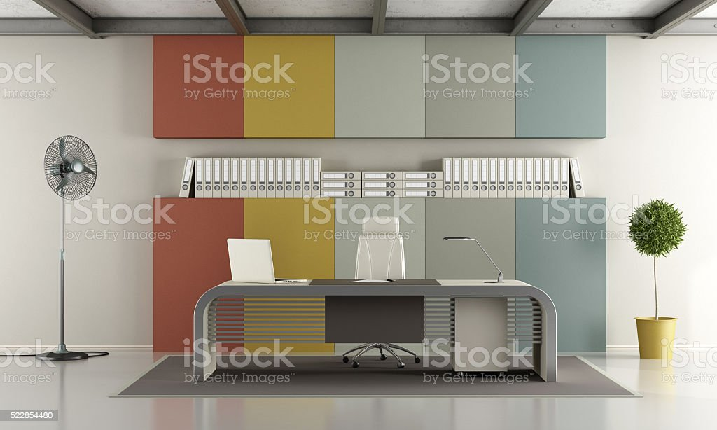 Colorful modern office stock photo