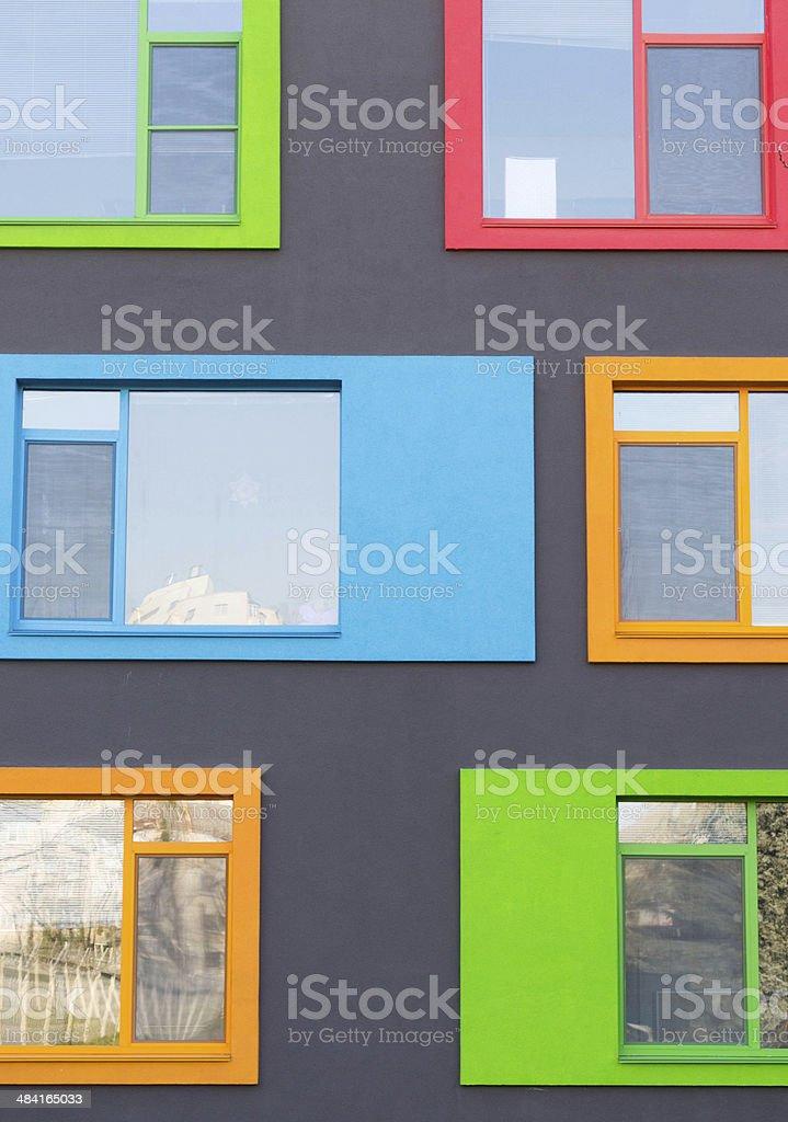 Colorful Modern Windows stock photo