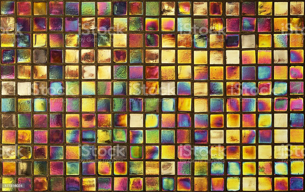 Colorful mosaic background on wall stock photo