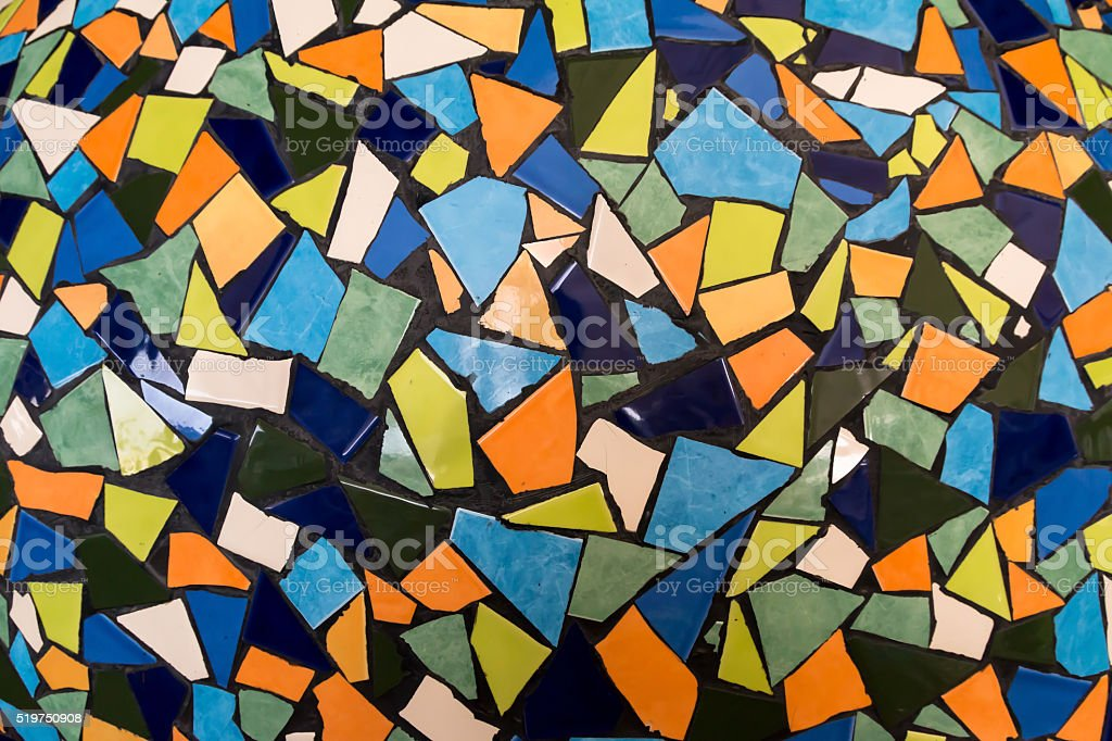 Colorful mosaic pattern stock photo