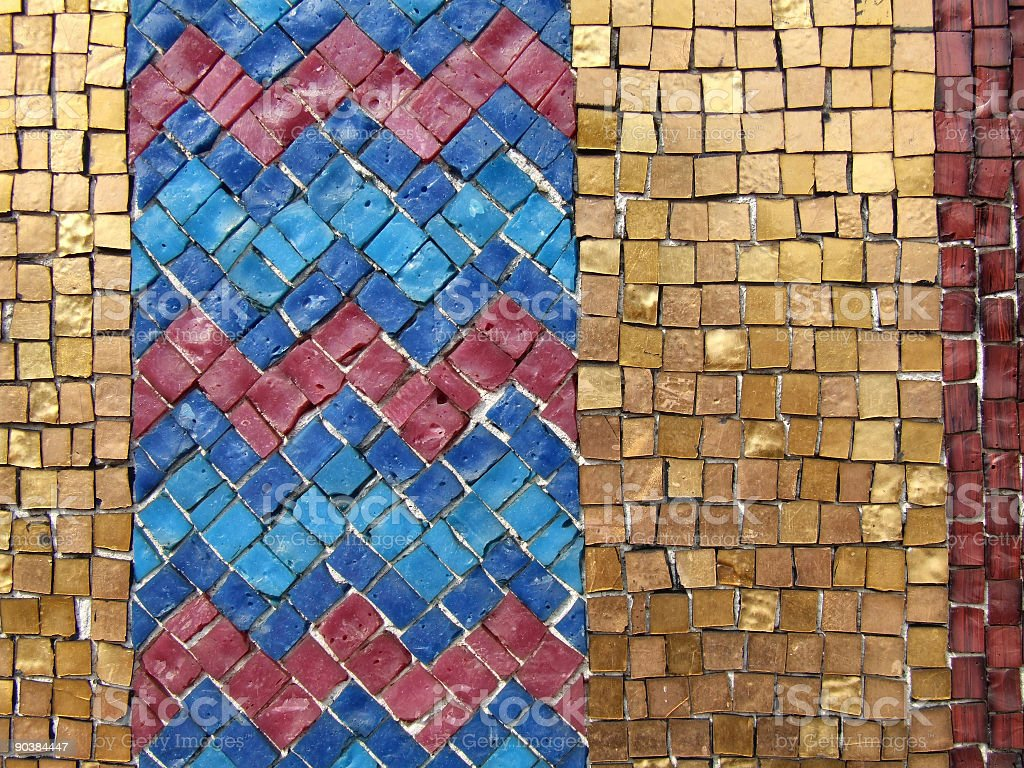 Colorful mosaic tiles royalty-free stock photo