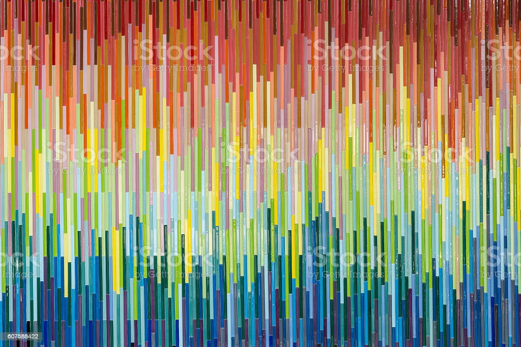 Colorful mosaic wall texture and background stock photo