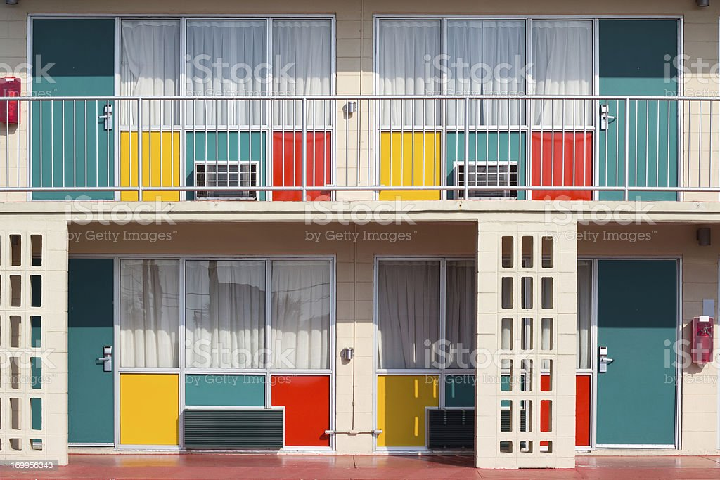 Colorful Motel stock photo