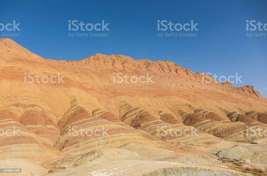 Colorful mountain in China stock photo