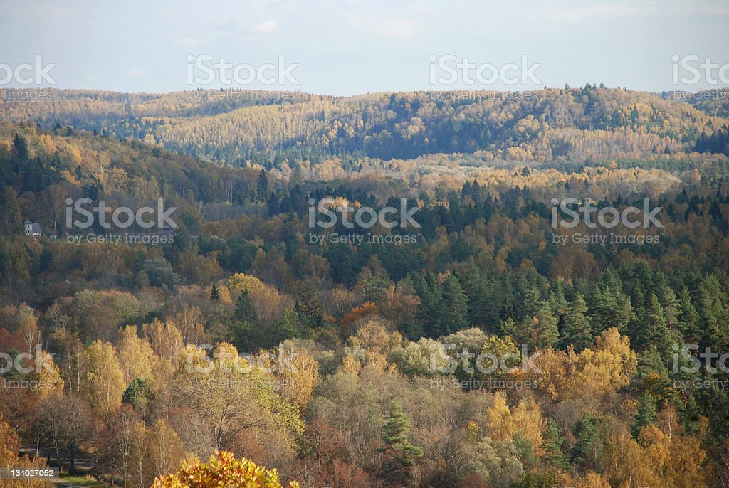 Colorful mountain landscape royalty-free stock photo