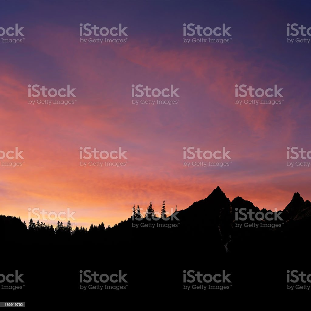 XXXL colorful mountain sunset royalty-free stock photo
