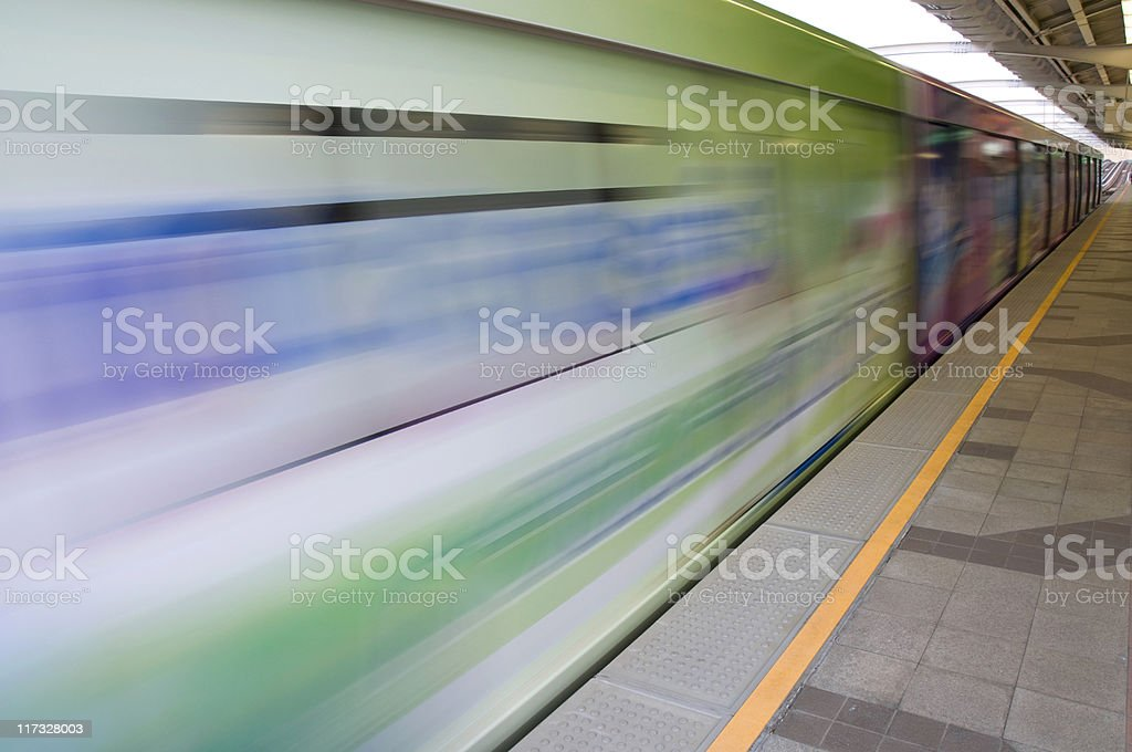 Colorful Moving train royalty-free stock photo