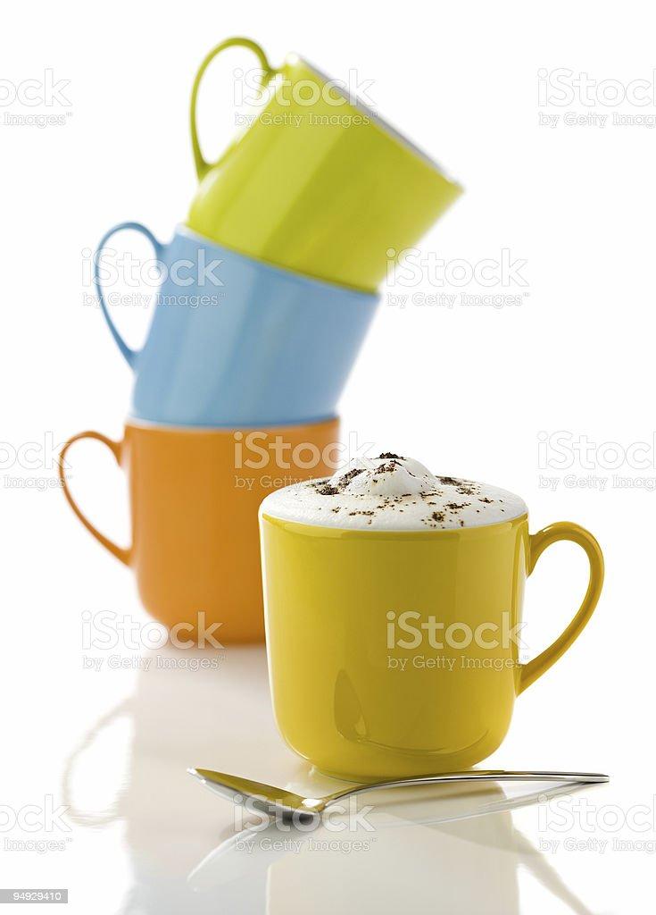 colorful mugs royalty-free stock photo