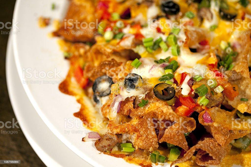 Colorful nachos. stock photo