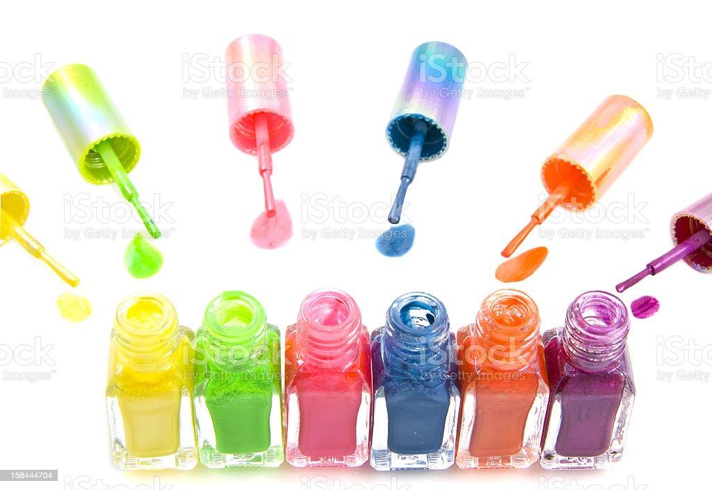 Colorful nailpolish royalty-free stock photo