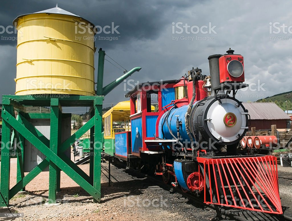 Colorful Narrow Gauge Train royalty-free stock photo