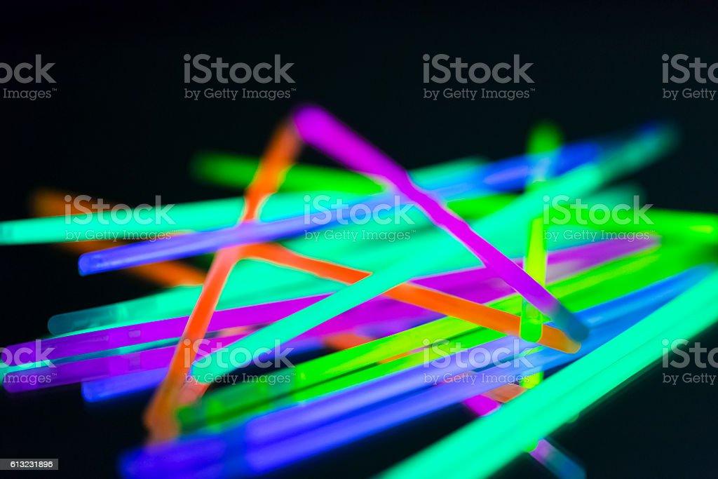 colorful neon light stock photo