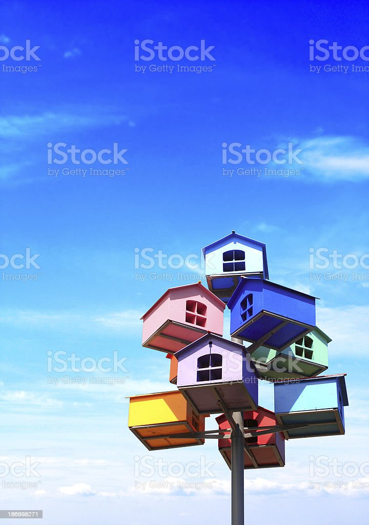 Colorful nesting boxes royalty-free stock photo