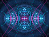 Colorful new technology fractal