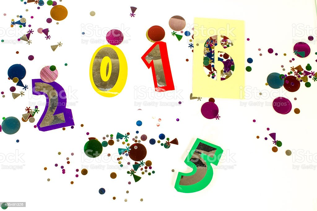 Colorful New Year Celebration stock photo