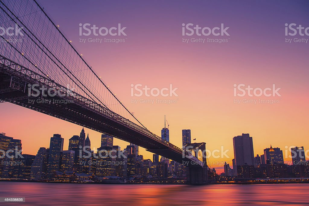 Colorful New York City royalty-free stock photo