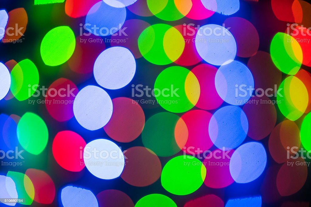 Colorful night lights stock photo