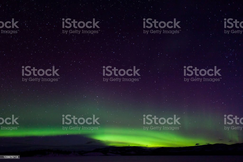 Colorful northern lights (aurora borealis) royalty-free stock photo
