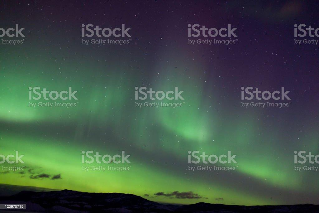 Colorful northern lights (aurora borealis) royalty-free stock photo