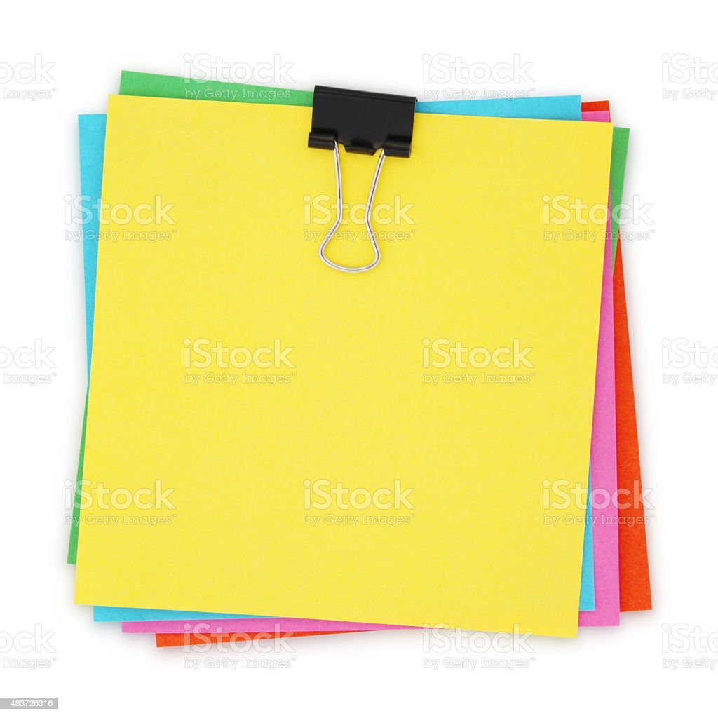 Colorful Notes (with path) stock photo