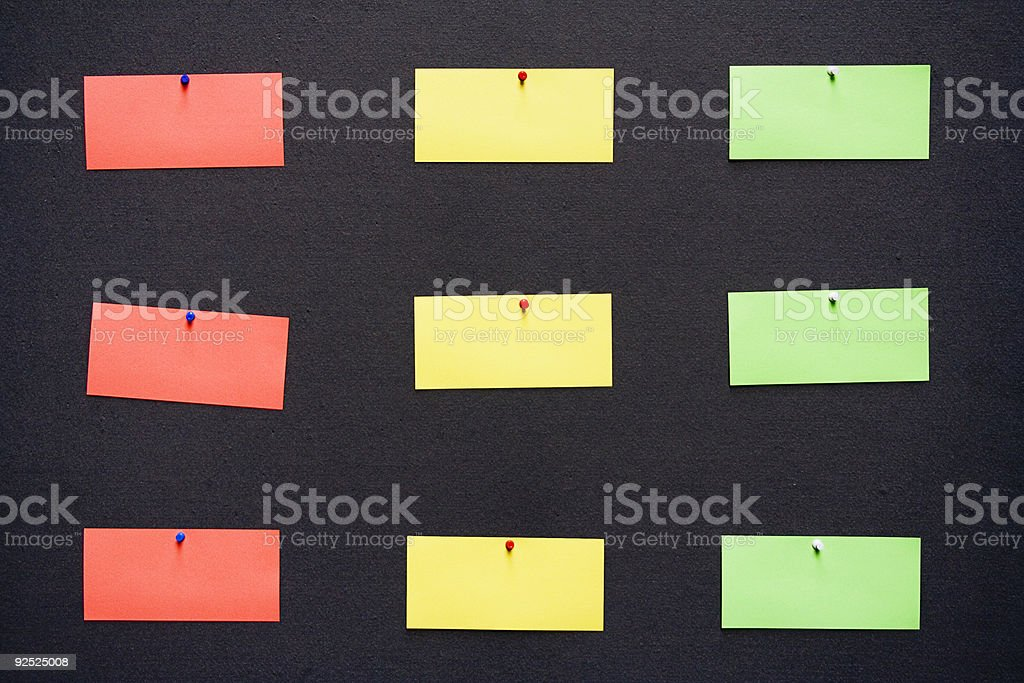 Colorful Notes royalty-free stock photo