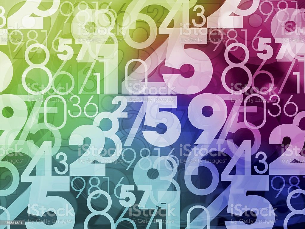 colorful numbers background royalty-free stock photo