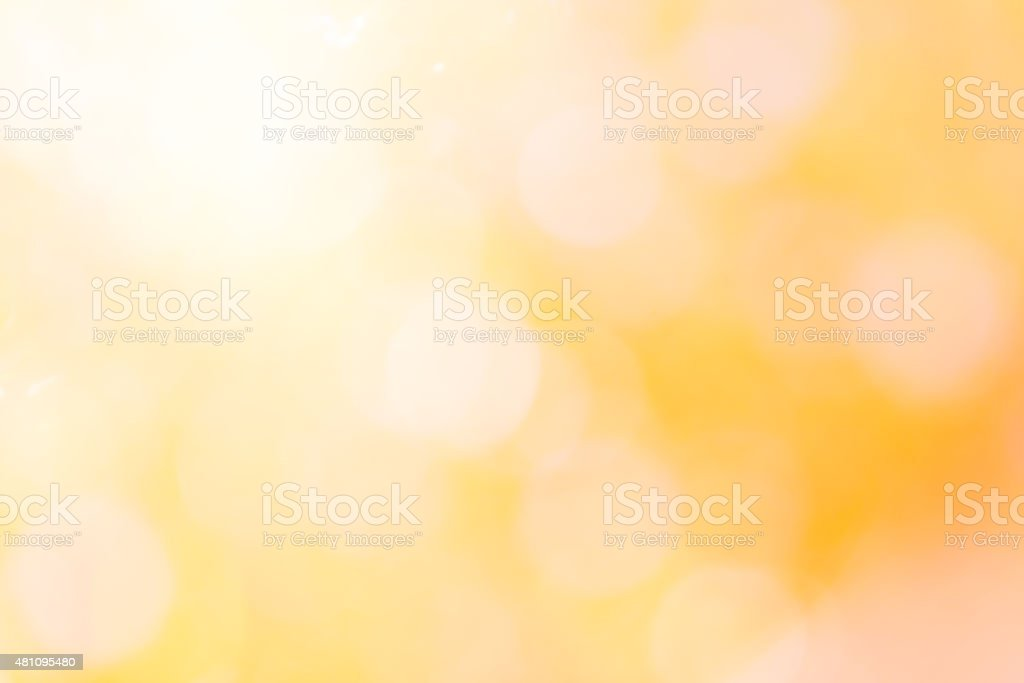 colorful of bokeh  light blurred yellow stock photo