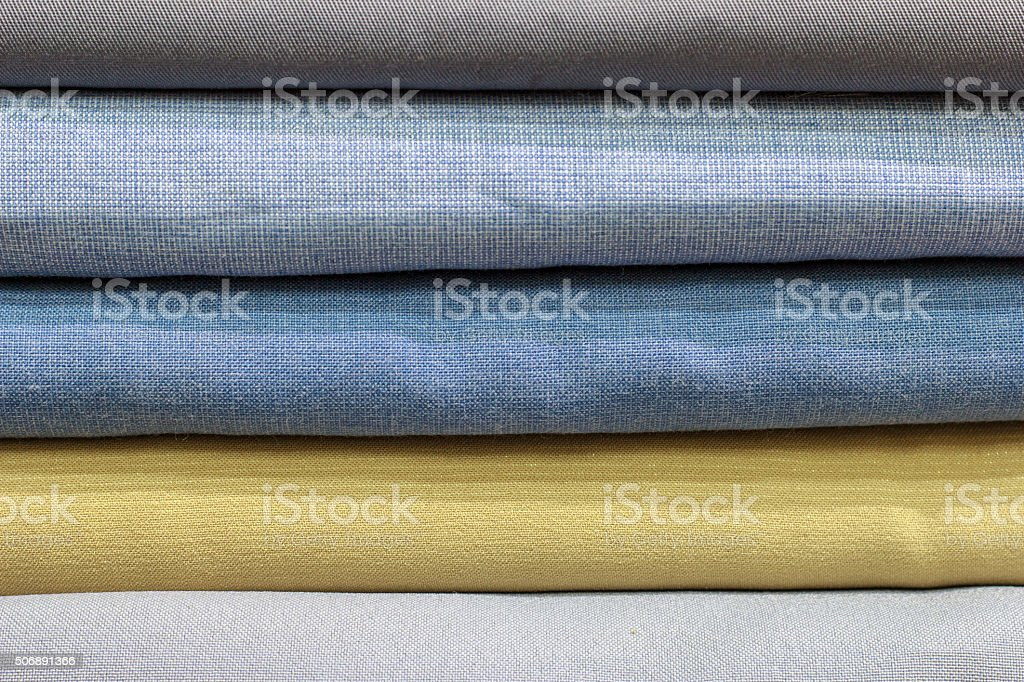 Colorful of fabric stock photo