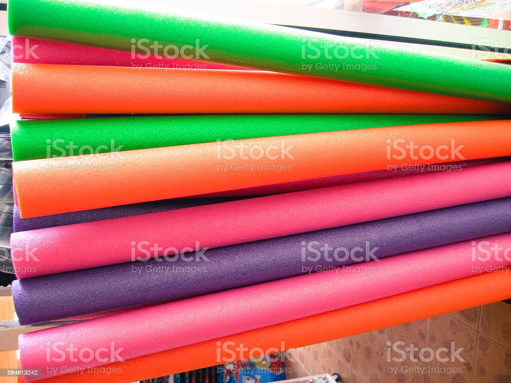 colorful of foam toy stock photo