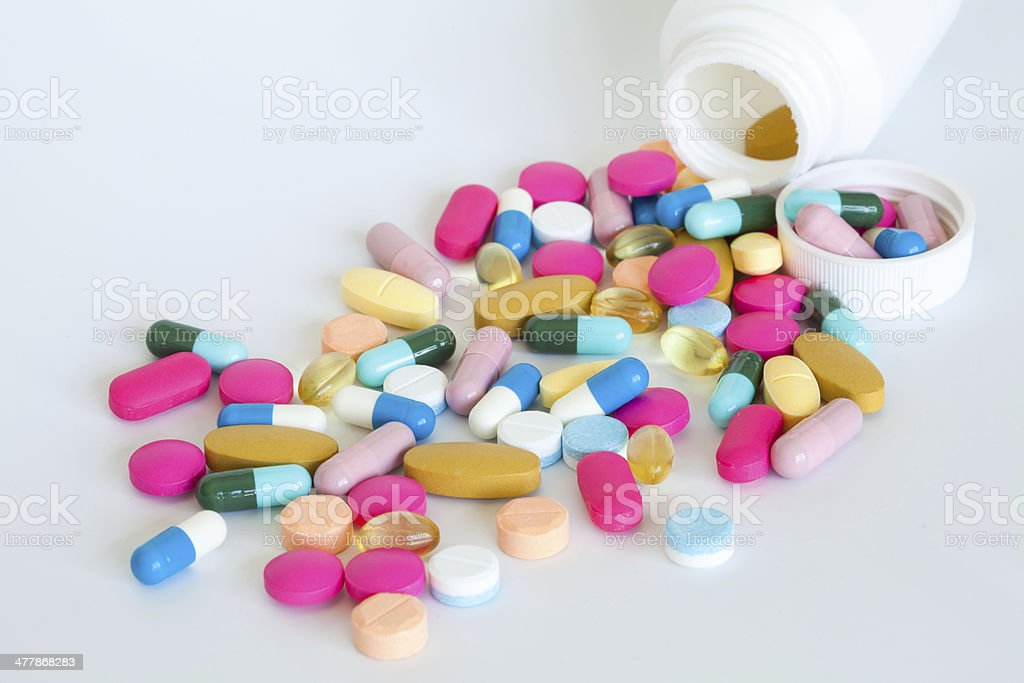 Colorful of pills royalty-free stock photo