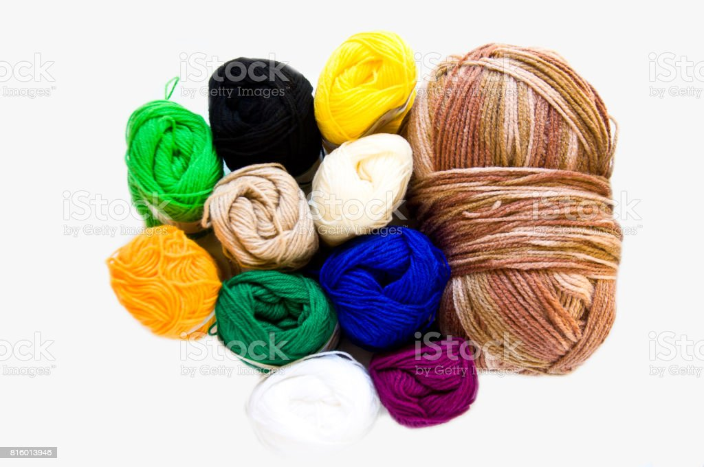 Colorful of silk stock photo