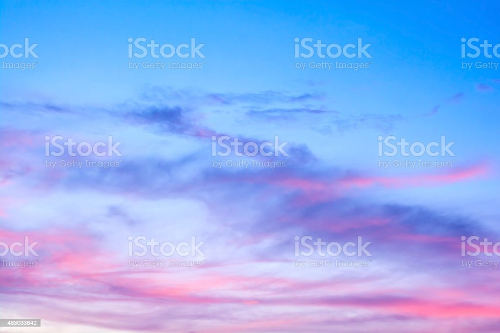 colorful of sky with clouds in the evening stock photo