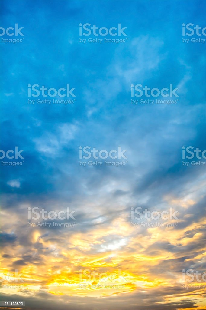 colorful of sky with clouds in the morning stock photo