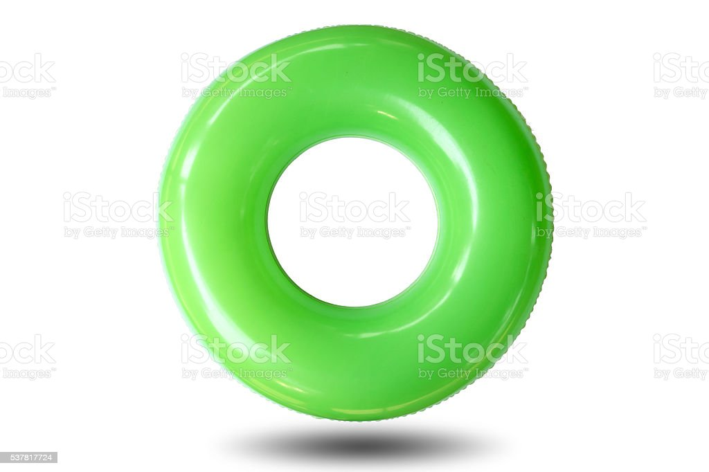 Colorful of the swim ring isolated on white background. stock photo