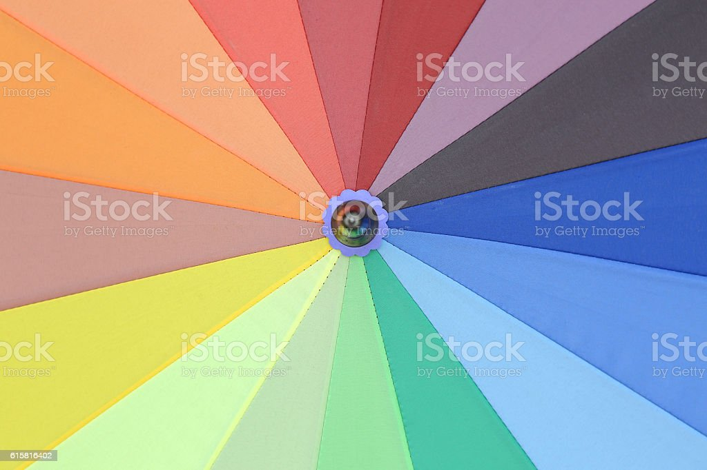 colorful of umbrella stock photo