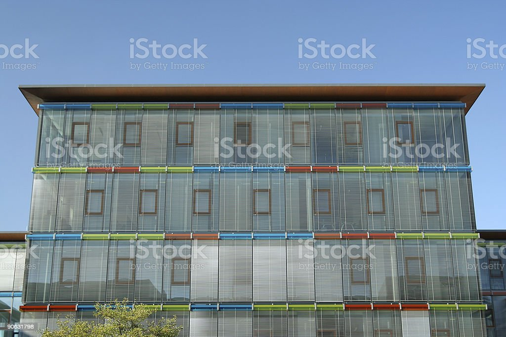 Colorful office building stock photo