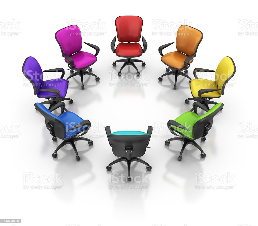 colorful office chairs royalty-free stock photo